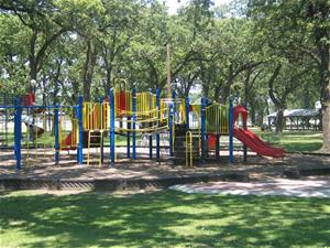 Playground equipment at the Markley Park
